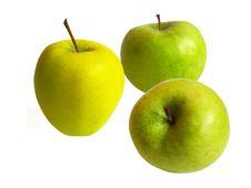 Free Three Apples On White Stock Photos - 2183083