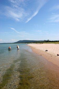 Lake Michigan Shoreline Stock Images