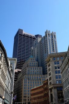 Free Downtown Boston Royalty Free Stock Image - 2184306