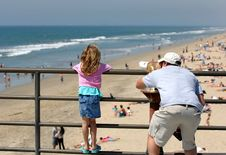 Coastal Telescope Royalty Free Stock Photo