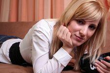 Free Beautiful Blonde Girl Stock Image - 2184691