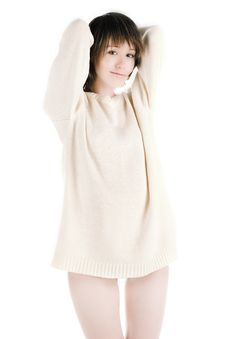 Free White Jumper Royalty Free Stock Photos - 2184788