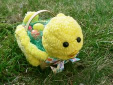 Free Baby Chick Easter Basket 4 Royalty Free Stock Photography - 2185147
