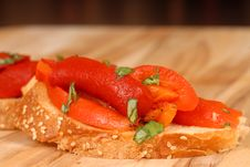 Free Roasted Red Pepper And Basil B Royalty Free Stock Image - 2186876