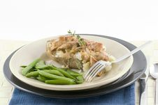 Free Baked Potato And Gravy Royalty Free Stock Image - 2187856