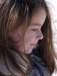 Free Profile Of Adorable Girl Stock Image - 2189121