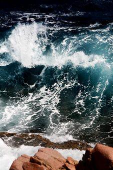 Free Turquoise Wave Stock Image - 2189311