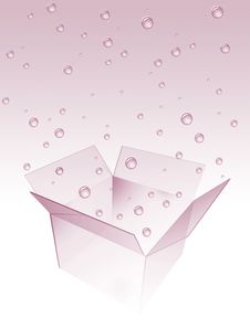 Free Box With Water Drops Royalty Free Stock Images - 2189959
