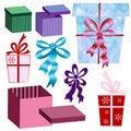 Free Set Boxes And Ribbons Royalty Free Stock Photo - 21809365