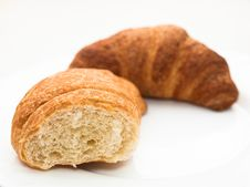 Free French Croissants Royalty Free Stock Photo - 21800325