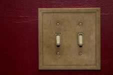 Free Double Wall Switches Royalty Free Stock Photos - 21801418