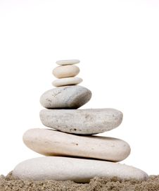 Free Stack Of White Stones Balancing Royalty Free Stock Images - 21804229
