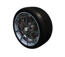 Free Car Wheel Royalty Free Stock Photo - 21804555