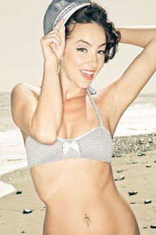 Free Vintage Bikini Model Royalty Free Stock Images - 21804649