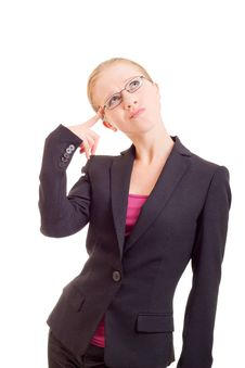 Free Attractive Young Business Woman Reflects Stock Photography - 21805472