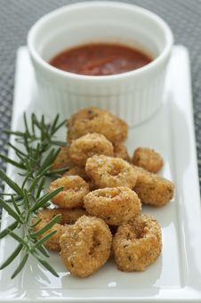 Free Calamari Appetizer Royalty Free Stock Photography - 21805807