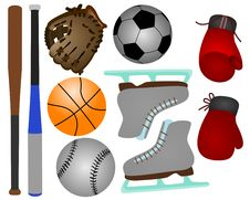 Free Sports Equipments Royalty Free Stock Photography - 21805867
