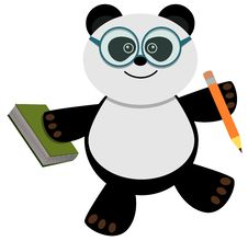 Free Studious Panda Stock Photos - 21805873