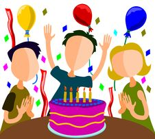 Free Birthday Party Royalty Free Stock Photography - 21805947