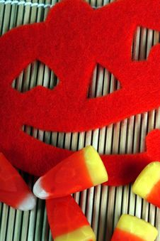Free Halloween Pumpkin And Candy Stock Photo - 21806070