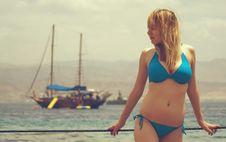 Free Girl On Beach Stock Photo - 21806950