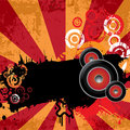 Free Urban Grungy Music Background With Place For Text Royalty Free Stock Images - 21817409