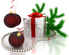 Free Christmas Gift Royalty Free Stock Photography - 21810017