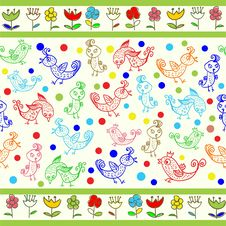 Kids Seamless Pattern Royalty Free Stock Images