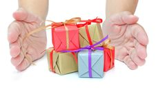 Free Gift Boxes Stock Image - 21815921