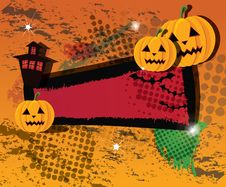 Free Halloween Banner Royalty Free Stock Image - 21816866
