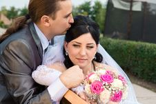 Free Happy Bride And Groom Stock Photos - 21817403