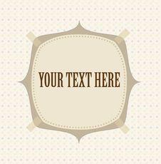 Free Polka Dot Design With Frame Royalty Free Stock Photo - 21817405