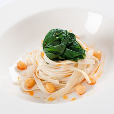 Free Tagliatelle With Spinach Royalty Free Stock Photo - 21819495