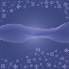 Free Background With Snowflakes Royalty Free Stock Photography - 21819927