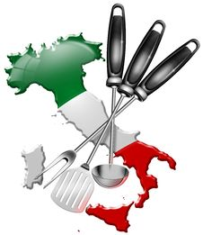 International Cuisine Made In Italy Royalty Free Stock Image