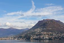 Panoramic Of Lugano Royalty Free Stock Image