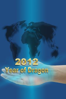 Free New Year Of Dragon 2012 Royalty Free Stock Images - 21823209