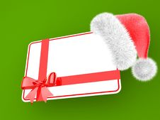 Free Santa Hat With A Gift Card Stock Photo - 21823310