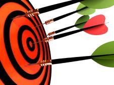 Free Dart Hitting The Target Stock Image - 21823461