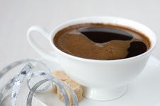 Free Cup Of Coffee, Brown Sugar Royalty Free Stock Photos - 21826258
