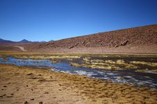 River Flow In The Atacama Desert Stock Photography