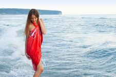 Young Girl On The Sea Royalty Free Stock Image