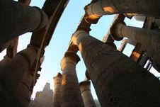Free Columns At Egyptian Temple Royalty Free Stock Photos - 21827078