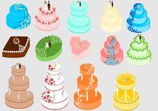 Free Wedding Cakes Set Stock Photo - 21827600