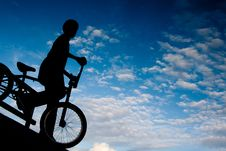 Free The Boy On The Cycle Royalty Free Stock Photo - 21828495