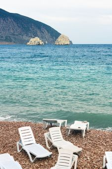 Free Several Lounges On The Beach Stock Photos - 21828533