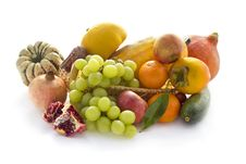 Free Autumn Vegetable And Fruits On White Stock Images - 21828734