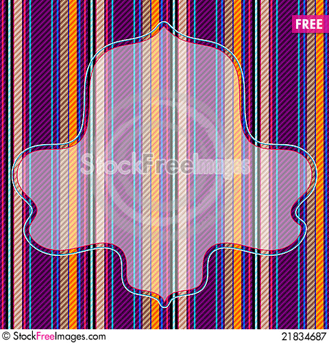 Free Vivid Striped Pattern With Frame Royalty Free Stock Photography - 21834687