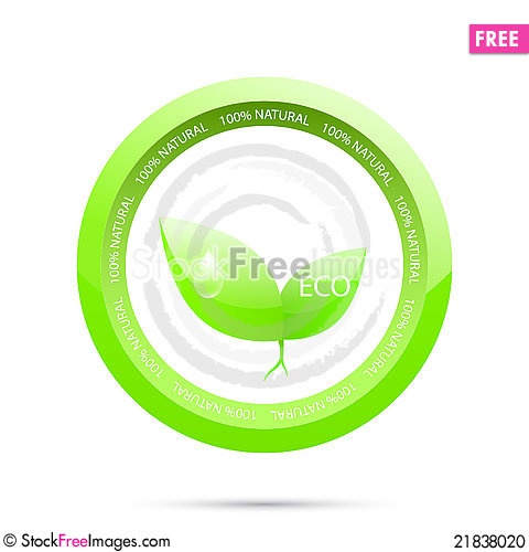 Free Green Label.  Green Ecology Stock Photo - 21838020