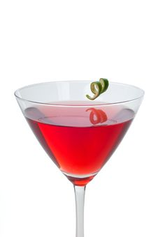 Free Red Martini Cocktail Royalty Free Stock Images - 21831589